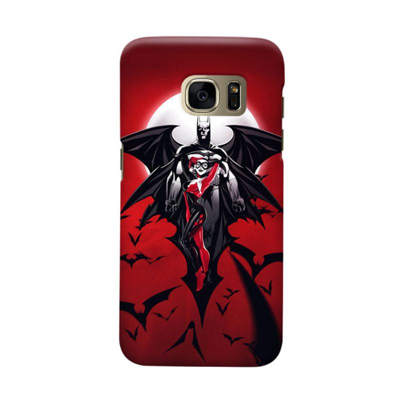 Indocustomcase Batman And Cat Woman Cover Casing for Samsung Galaxy S7 Edge