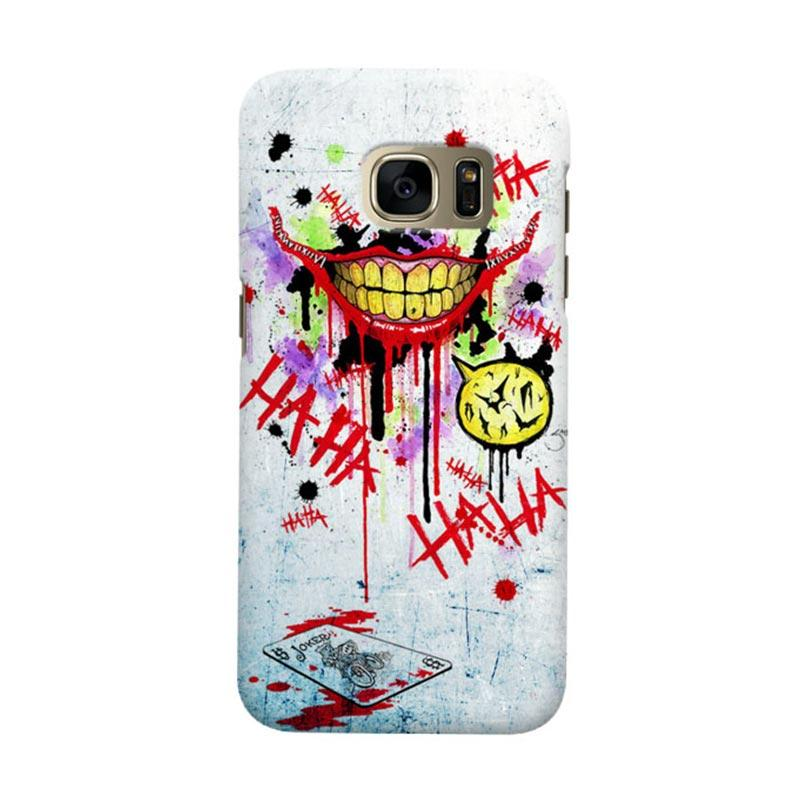 Indocustomcase Batman Joker Art RB Cover Casing for Samsung Galaxy S7 Edge