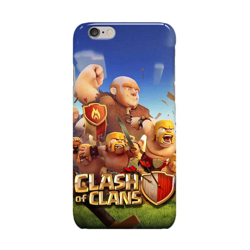 Indocustomcase Clash Of Clans Casing for Apple iPhone 6 Plus or iPhone 6S Plus