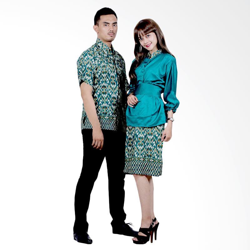 harga Batik Putri Ayu Solo Sarimbit Katun dan Velvet SRD16 Baju Batik Couple - Hijau Blibli.com