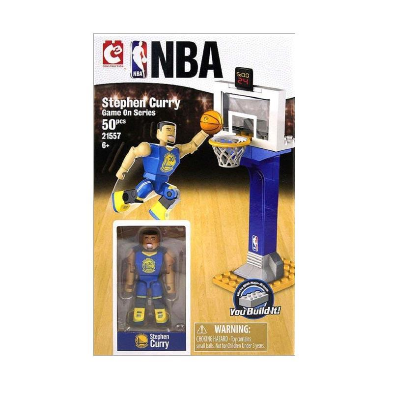 NBA C3 Construction Game On Stephen Curry Series Golden State Warriors Hoop Blocks & Stacking Toys