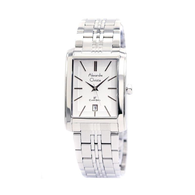harga Alexandre Christie 8408 - Jam Tangan Pria - Strap Stainless Steel - Silver Putih Blibli.com