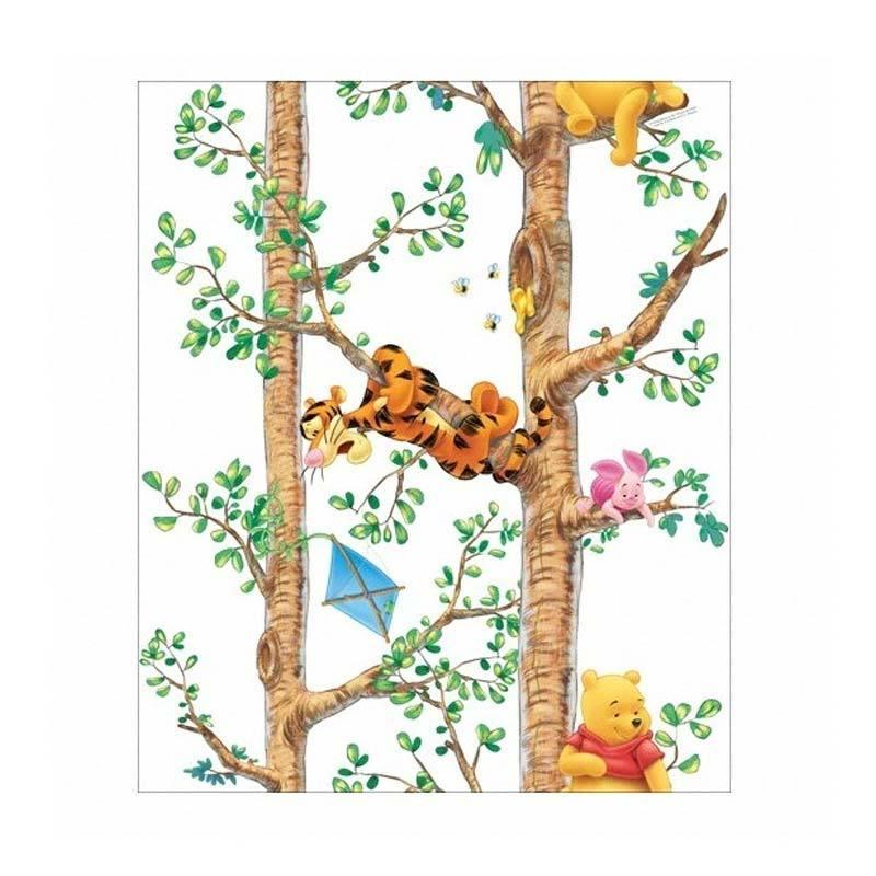 Hyundae Fixpix Wallpaper Pooh Tree Climbing White DG 11915 Dekorasi Dinding [50cm x 15m]