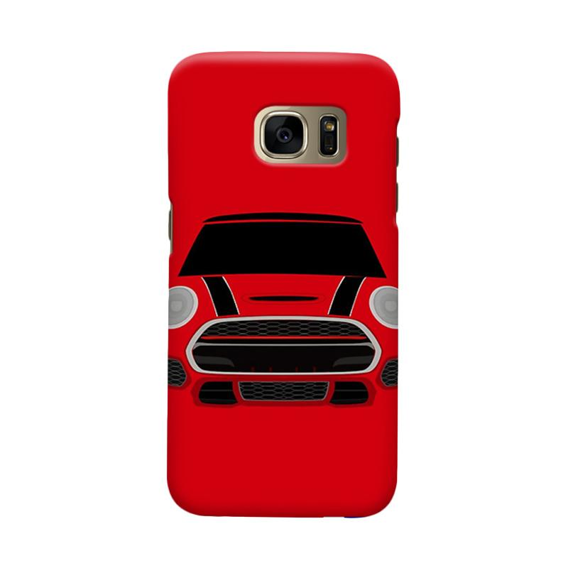 Indocustomcase Red Mini Cooper RT Casing for Samsung Galaxy S6 Edge