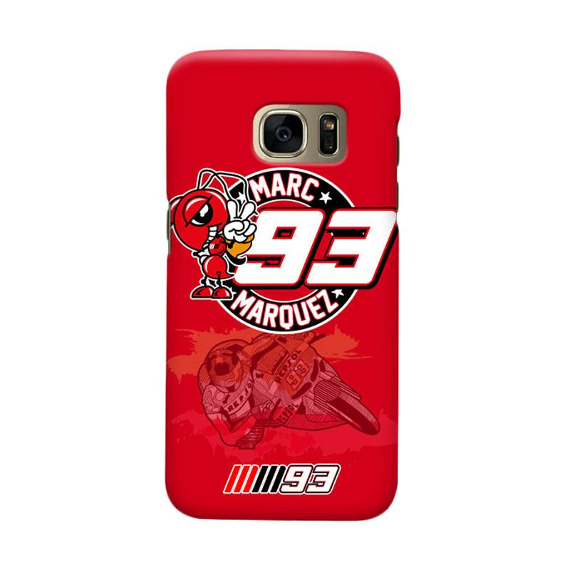 Indocustomcase Marc Marquez MM93 Logo Cover Casing for Samsung Galaxy S6