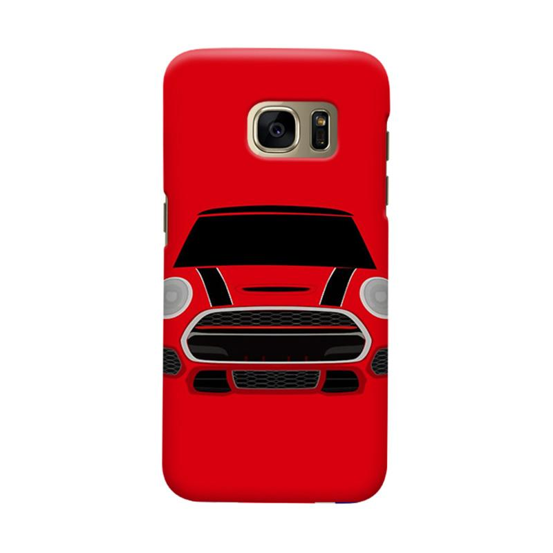 Indocustomcase Red Mini Cooper RT Cover Casing for Samsung Galaxy S7 Edge