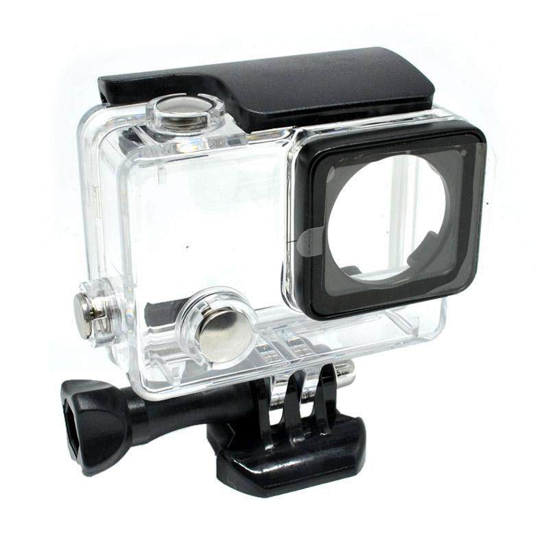 Universal DZ-307 Dazzne Waterproof Flat Button Housing Case For GoPro Hero 4 - Black