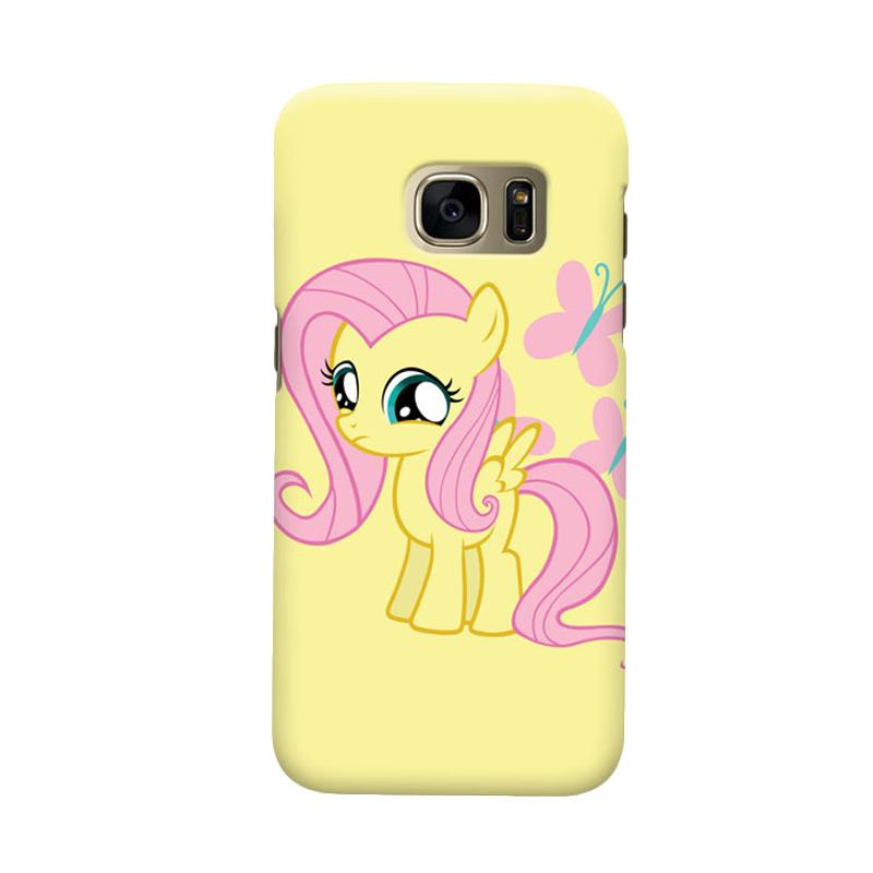 Indocustomcase Little Pony Yellow Cover Casing for Samsung Galaxy S7 Edge