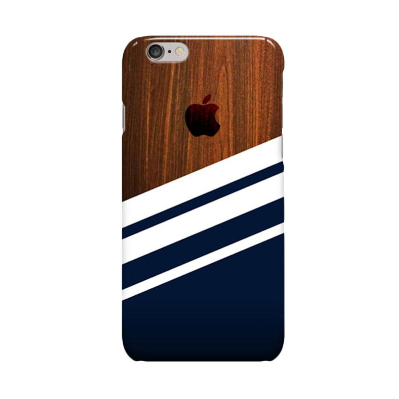 Indocustomcase Wooden Navy Casing for Apple iPhone 6 Plus or iPhone 6S Plus