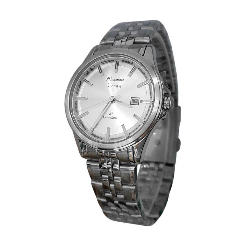 Ulasan Terbaru Alexandre Christie 141411 Analog Model Couple Tali Rantai Jam Tangan Wanita - Silver Dan