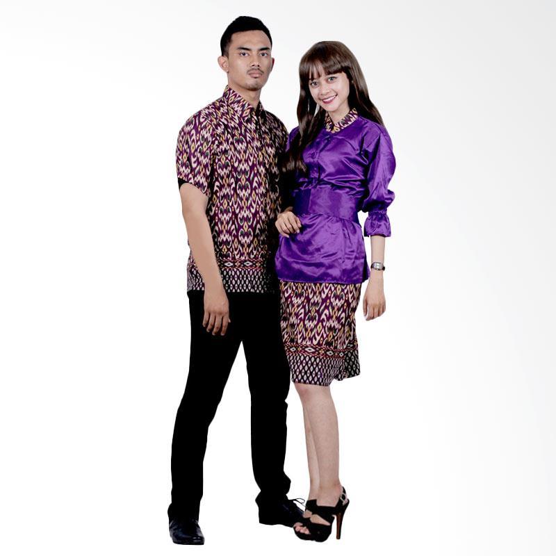 harga Batik Putri Ayu Solo Sarimbit Katun dan Velvet SRD16 Baju Batik Couple - Ungu Blibli.com