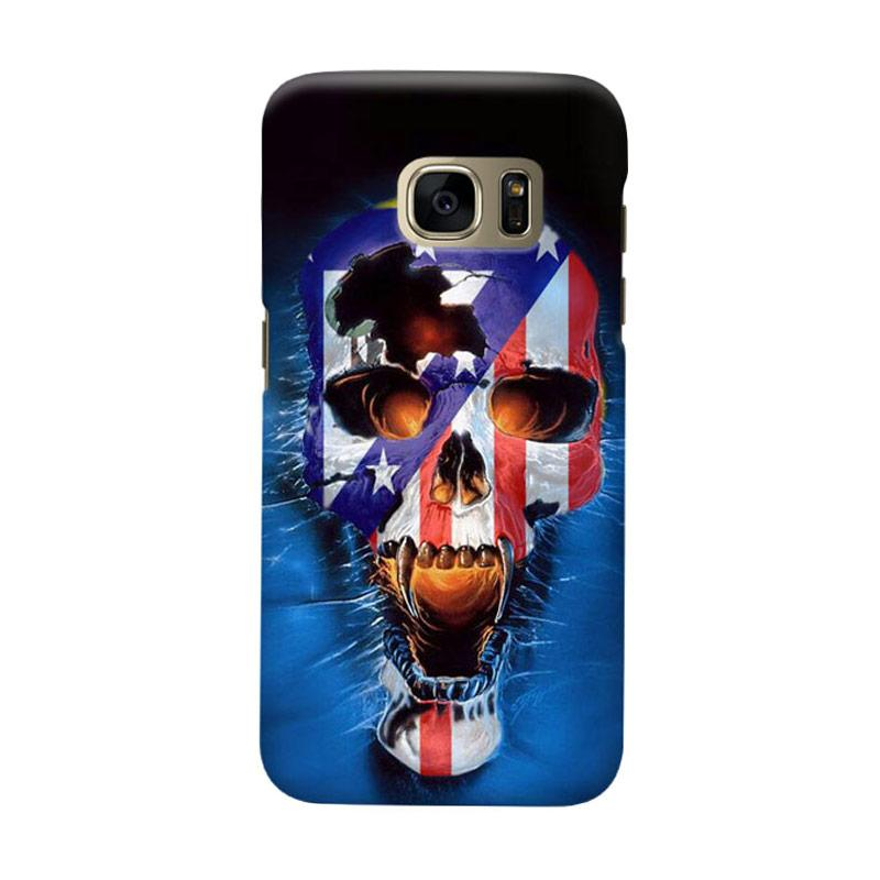 Indocustomcase Skull Atletico Madrid Cover Casing for Samsung Galaxy S6