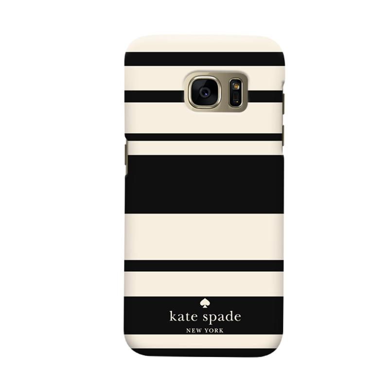 Indocustomcase Kate Spade Black Stripe Casing for Samsung Galaxy S7