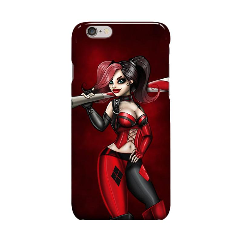 Indocustomcase Harley Quinn Cover Casing for Apple Iphone 6 Plus or 6S Plus