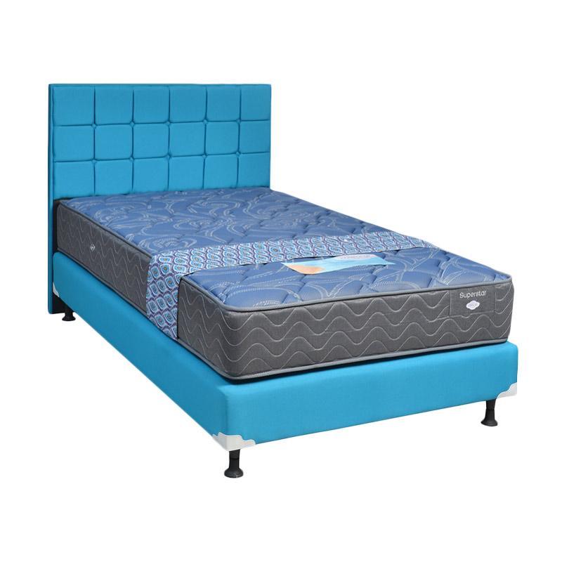 Comforta Super Star HB Sydney Set Springbed - Blue Ocean [Fullset/Khusus Jabodetabek]