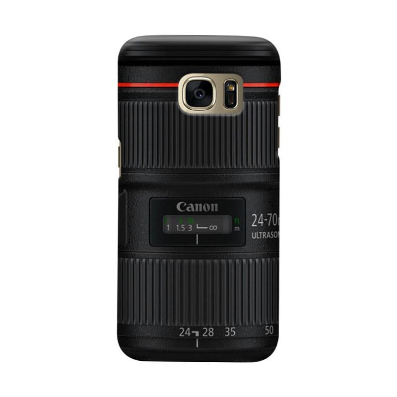 Indocustomcase Canon Tele Len Camera Cover Casing For Samsung Galaxy S6 Edge