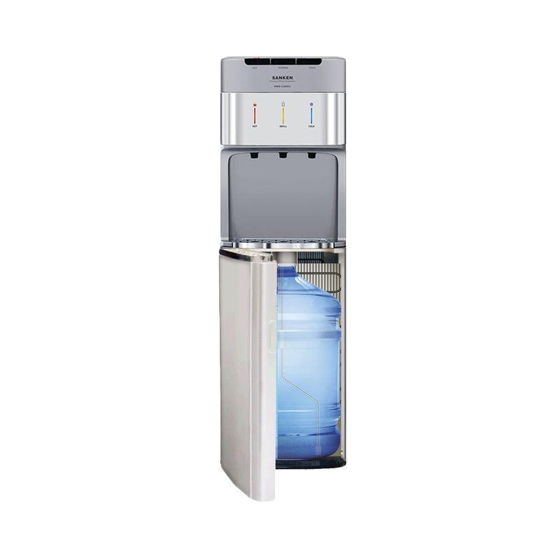 Sanken HWD-C200-SS Dispenser 3in1 - Silver [Bottom Galon/Stainless Steel]