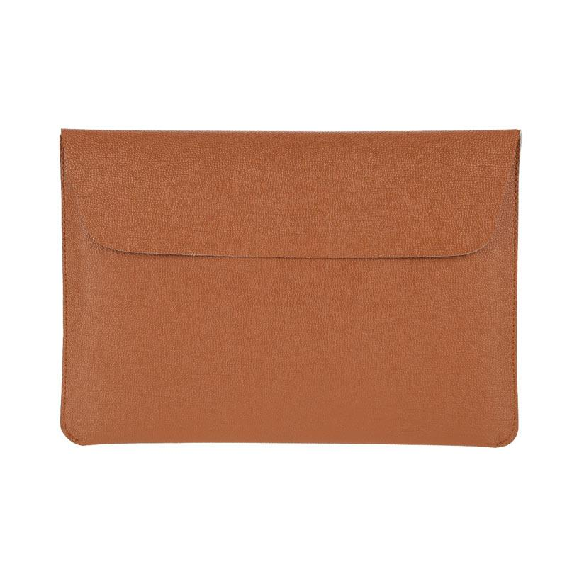 Cooltech Tas Laptop Utra Slim Envelope PU Leather Softcase Sleeve Case for Macbook 11.6 0r 12.1 Inch - Coklat