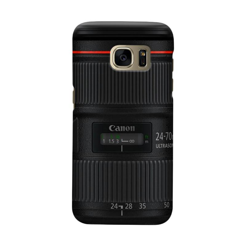 Indocustomcase Canon Tele Len Camera Casing for Samsung Galaxy S7 Edge