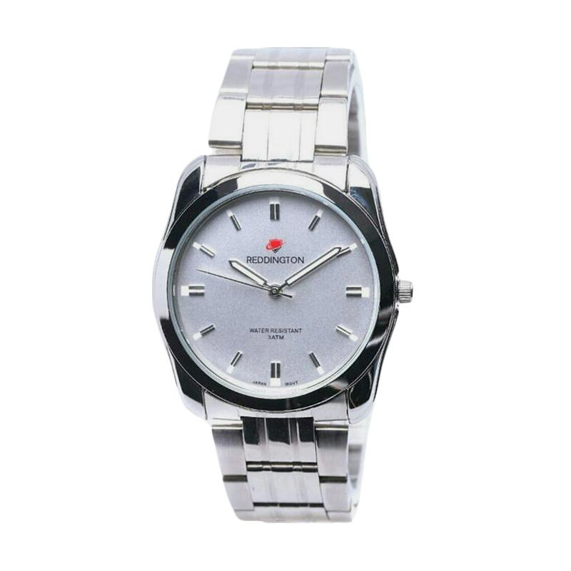 Reddington D42H130RD8010MSLVPP Stainless Steel Chain Analog Watch Jam Tangan Pria - Silver