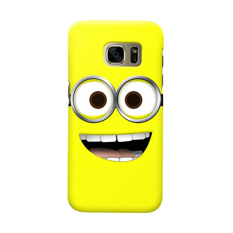 Indocustomcase Cartoon Minion Lough Cover Casing for Samsung Galaxy S6