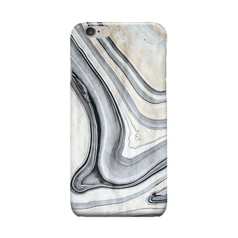 Indocustomcase Vintage White Marble Casing for Apple iPhone 6 Plus or 6S Plus