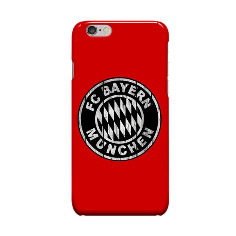 Indocustomcase Bayern Munchen FC Cover Casing for iPhone 6 Plus or 6S Plus - Red