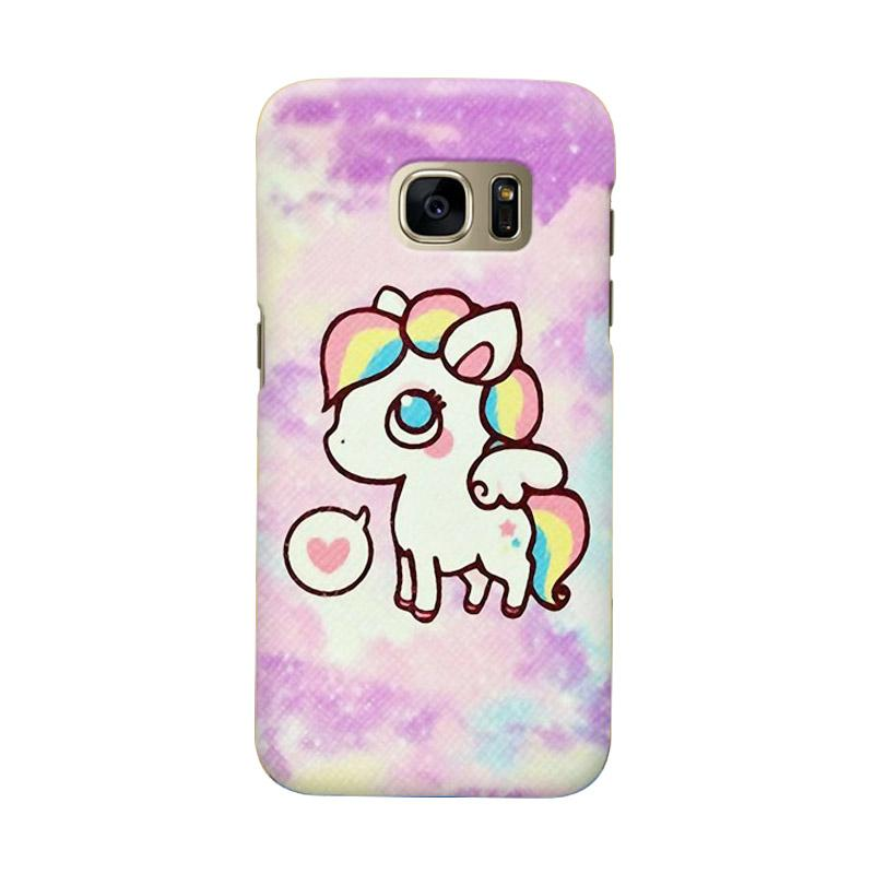 Indocustomcase Cartoon Little Pony Cover Casing for Samsung Galaxy S6