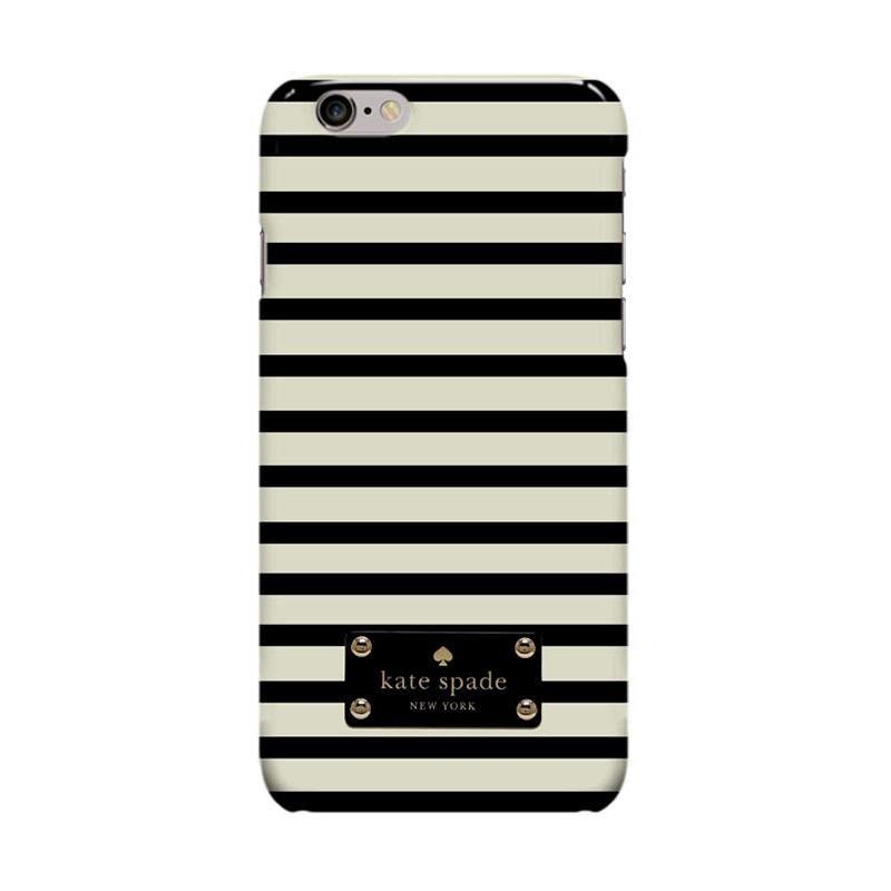 Indocustomcase Kate Spade Stripe KS03 Casing for Apple iPhone 6 Plus or 6S Plus