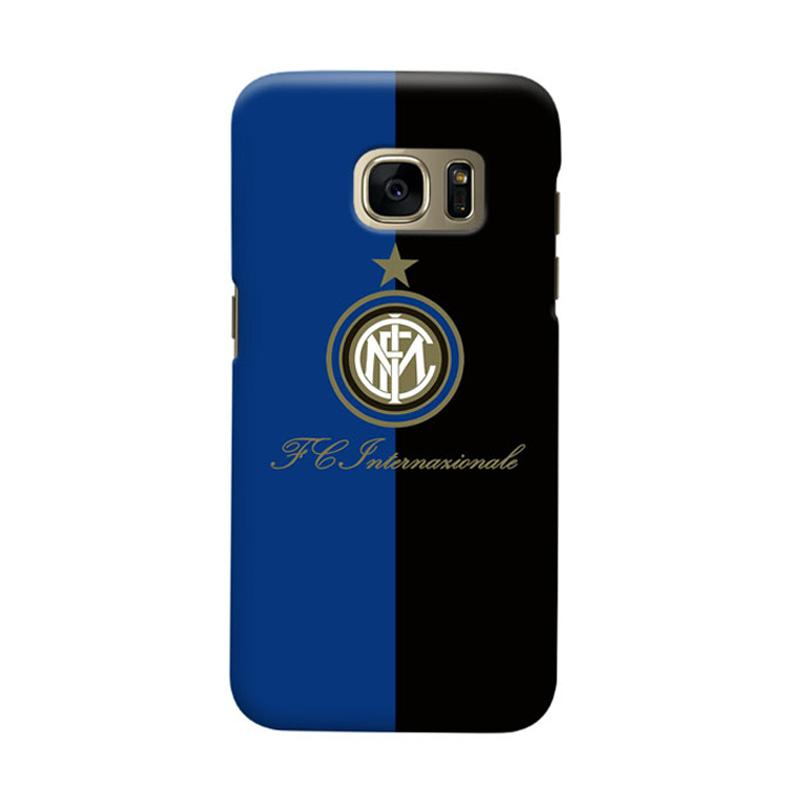 Indocustomcase FC internazionale Milan IM01 Cover Casing for Samsung Galaxy S7