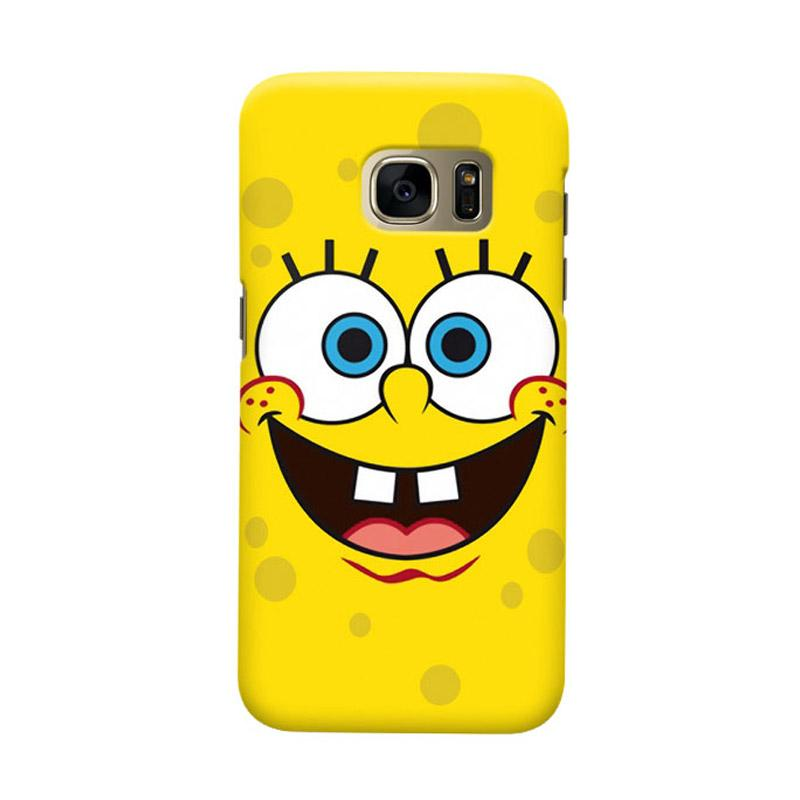 Indocustomcase Spongebob Smile Face Cover Hardcase Casing for Samsung Galaxy S7 Edge