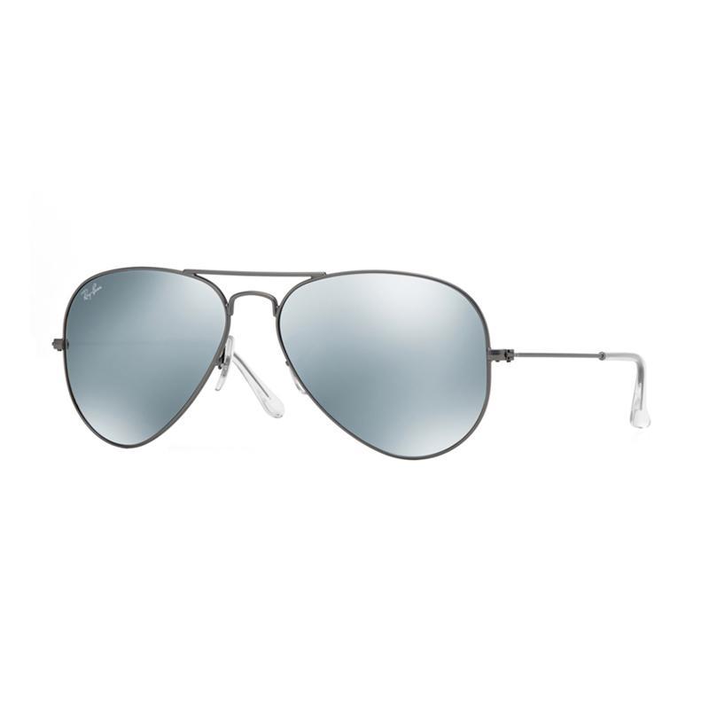 Ray-Ban Aviator Large Metal RB3025 Matte Gunmetal 029-30 Sunglasses - Green Mirror Silver [Size 58]