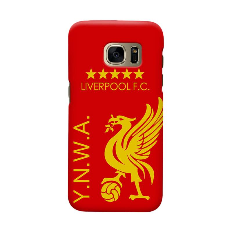 Indocustomcase Liverpool FC YNWA Cover Casing for Samsung Galaxy S6 Edge