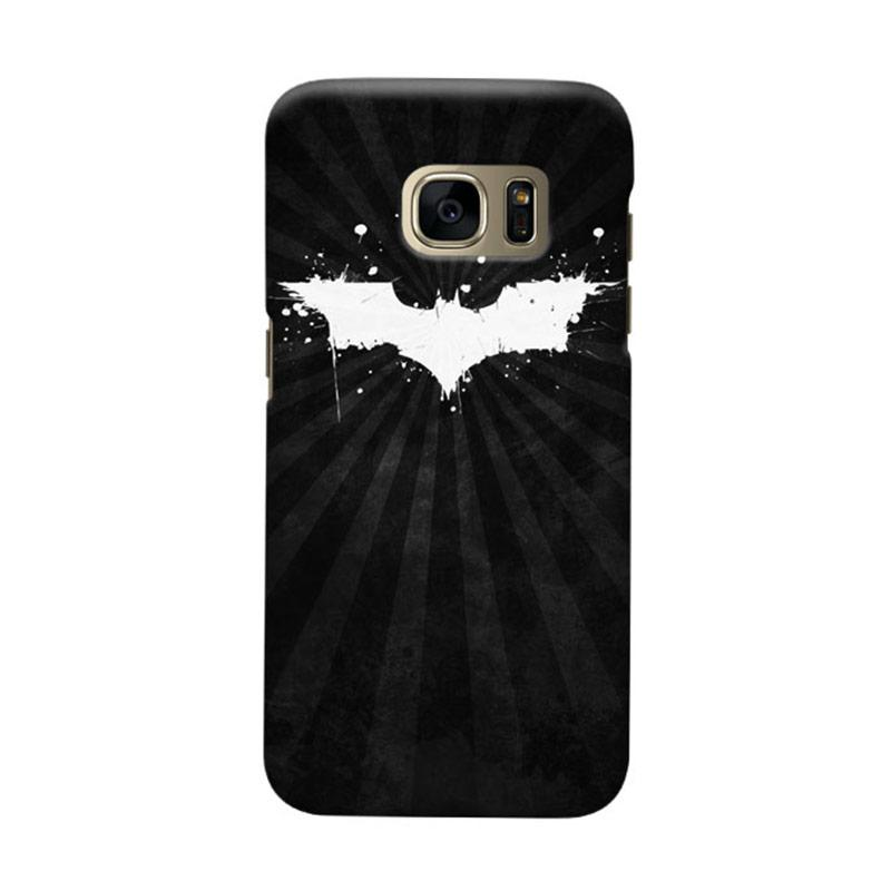 Indocustomcase Batman Grunge Logo Black Cover Casing for Samsung Galaxy S6