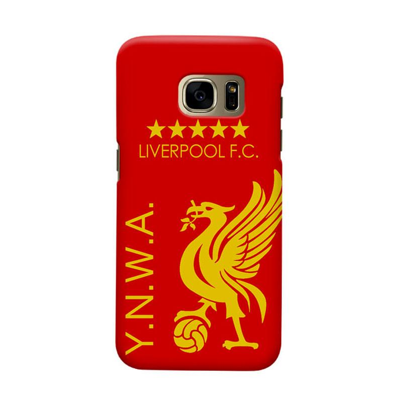 Indocustomcase Liverpool FC YNWA Casing for Samsung Galaxy S7 Edge