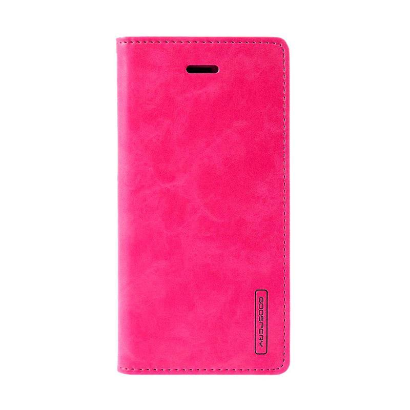 Mercury Goospery Bluemoon Flip Cover Casing for Samsung Galaxy J5 Prime - Hot Pink
