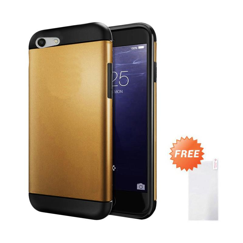 harga Jagostu Slim Armor Series Casing for Oppo F1S A59 - Gold + Free Tempered Glass