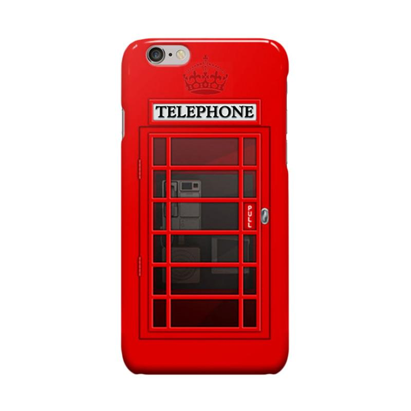 Indocustomcase Telephone Box SC03 Cover Casing for iPhone 6 Plus or 6S Plus - Red