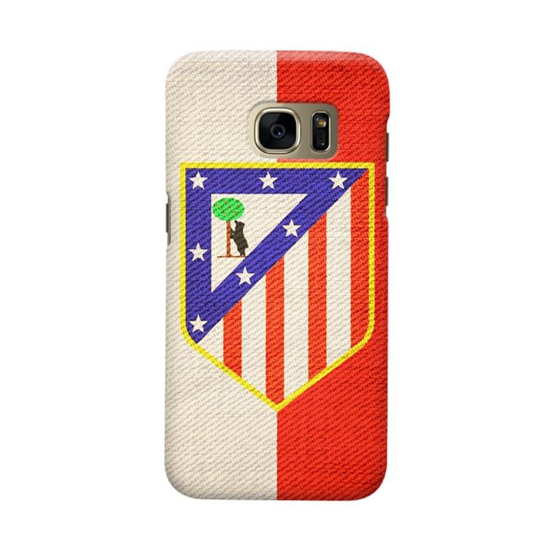 Indocustomcase Atletico Madrid Vintage Cover Casing for Samsung Galaxy S6 Edge