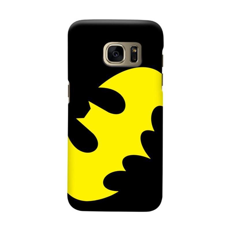 Indocustomcase Batman Logo Yellow Cover Casing for Samsung Galaxy S6 Edge