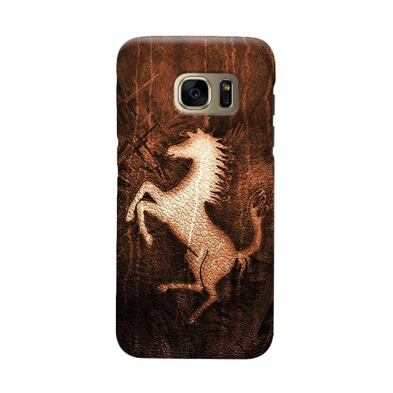 Indocustomcase Ferarri The Wild Horse Cover Casing for Samsung Galaxy S7