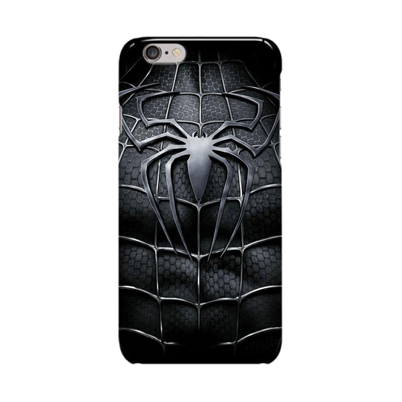 Indocustomcase Spiderman Cover Casing for Apple iPhone 6 Plus or 6S Plus - Black