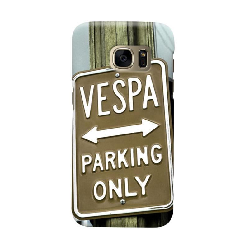 Indocustomcase Vespa Parking Poster Casing for Samsung Galaxy S6