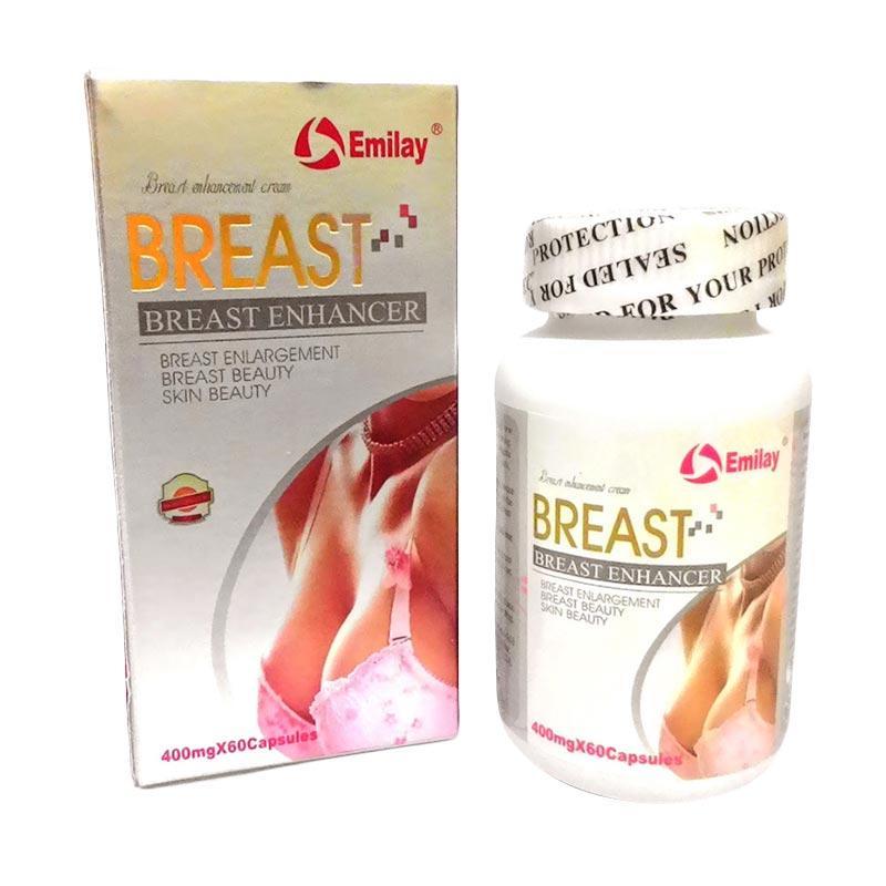 Pembesar Payudara Dan Pengencang Emilay Breast Enhancer USA Original Herbal Suplemen ( 3 Botol )