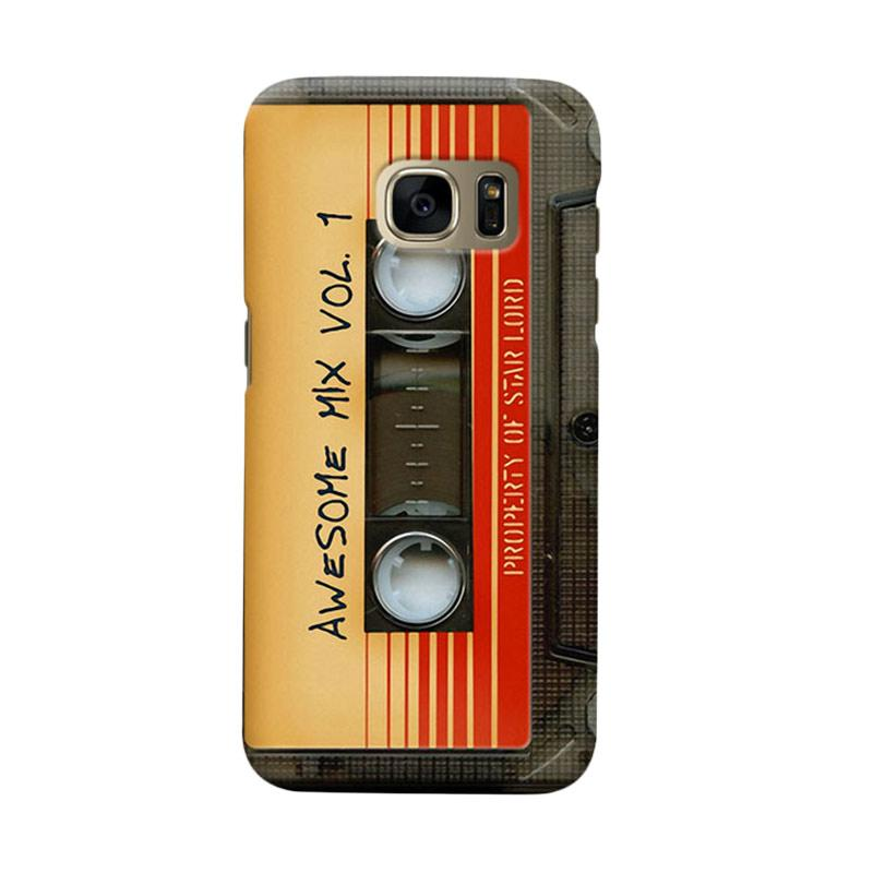 Indocustomcase Awesome Mix Vol 1 Cassette Cover Casing for Samsung Galaxy S6