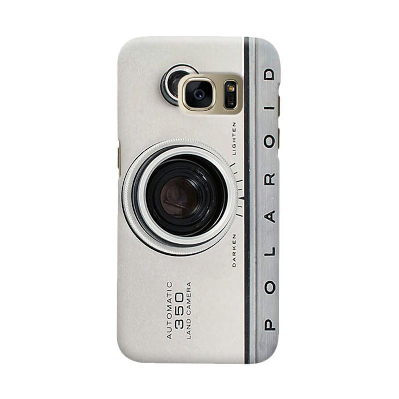 Indocustomcase Silver Camera Polaroid Cover Casing for Samsung Galaxy S6