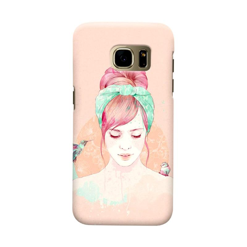Indocustomcase HairStylis Girls Cover Casing for Samsung Galaxy S6 Edge