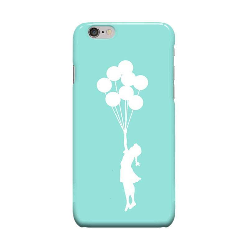 Indocustomcase Banksy Balloon Cover Casing for Apple iPhone 6 Plus or 6S Plus