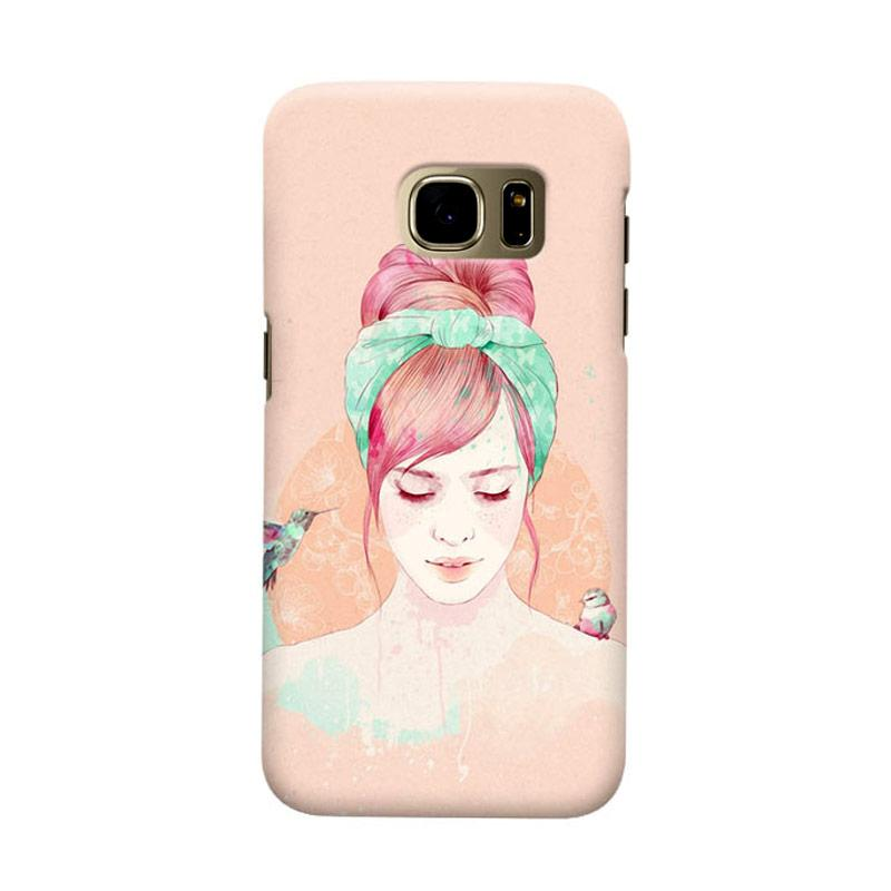 Indocustomcase HairStylis Girls Cover Casing for Samsung Galaxy S7 Edge