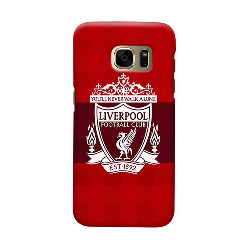 Indocustomcase Liverpool Logo LFC01 Cover Casing for Samsung Galaxy S7 Edge